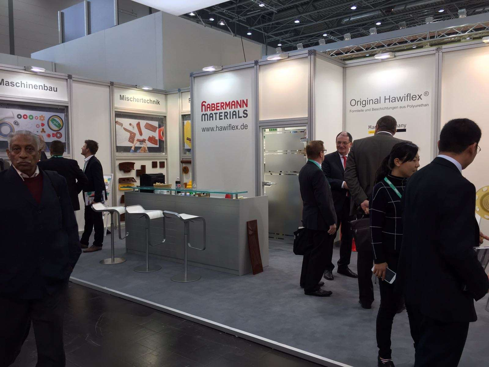 Messestand von habermann materials in Halle 8a / B41