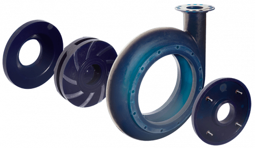 Pumpe blau