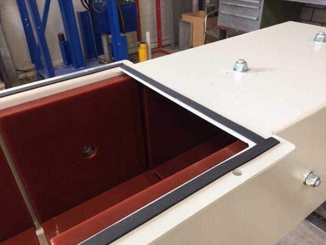 Segmente aus Hawiflex® Polyurethan in einem Schacht